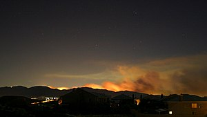 Sayre Fire - The Sayre fire as seen from Santa Clarita on November 15, 2008