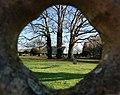 Scene Through a Headstone, Comberton Churchyard - geograph.org.uk - 1086653.jpg