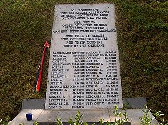 Tir national - War memorial on Rue Colonel Bourg, Schaerbeek