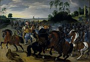 Sebastiaan Vrancx - Reitergefecht am Fuß eines Hügels