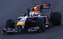 Photo de la Red Bull RB6 de Vettel, vainqueur du Grand Prix