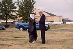 Secretary Kerry Chats With Saudi Foreign Minister al-Jubeir As They Await the Arrival of King Salman at Andrews Air Force Base (21132360041).jpg
