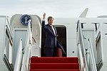 Secretary Kerry Gives a Thumbs Up Before Boarding his Aircraft at Joint Base Andrews in Camp Springs, Maryland (32131286771).jpg