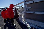 Secretary Kerry Looked at the Commode Outside the hut in Cape Royds, Antarctica (30279238654).jpg