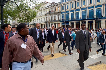 Secretary Kerry Walks Down Paseo de Marti in Havana, Cuba (25367067484).jpg