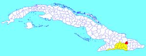 Segundo Frente - Image: Segundo Frente (Cuban municipal map)
