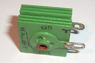 Selenium rectifier - Selenium rectifier from 1960s. Each plate is 1-inch square.