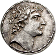 A coin bearing the portrait of the Seleucid king Seleucus VI