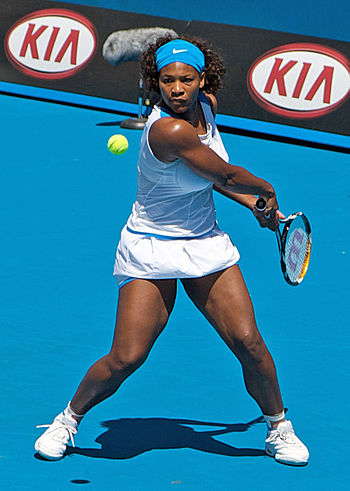 English: Serena Williams at 2009 Australian Op...