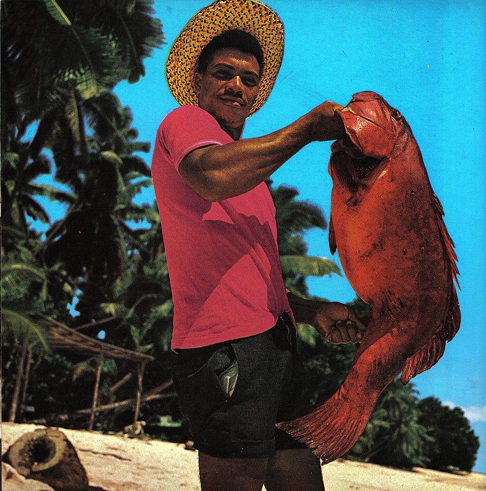 Seychelles man with fish
