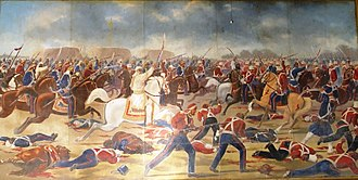 Battle of Sobraon - Sardar Sham Singh Attariwala rallying Sikh cavalry for the last stand