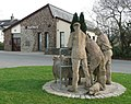 Sheep sculpture from the back, Hatherleigh - geograph.org.uk - 1803852.jpg