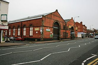 Sherwood, Nottingham - Sherwood Bus Depot from Mansfield Road