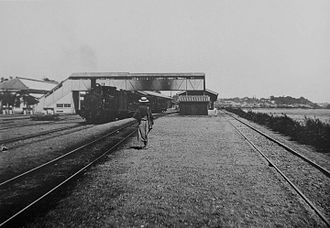 Shinagawa Station - Shinagawa Station around 1897