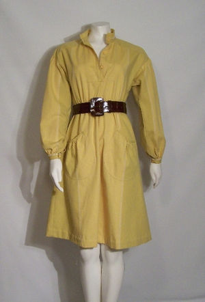 Shirtdress - A vintage shirtdress, late 1960s-early 1970s.