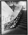 Showing stair railing. June 1936. - The Cabildo, 711 Chartres Street, New Orleans, Orleans Parish, LA HABS LA,36-NEWOR,4-17.tif