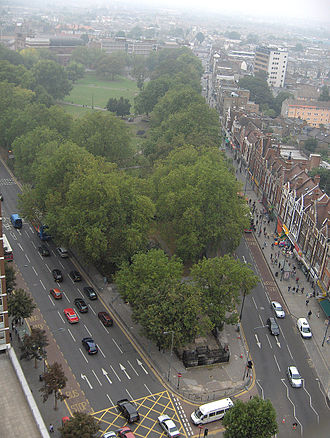 Shepherd's Bush - Shepherds Bush Green, seen from a nearby tower block (September 2006)