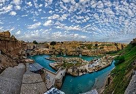 Shushtar Historical Hydraulic System Panorama.jpg