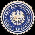 Siegelmarke Amt Bannesdorf - Kreis Oldenburg W0220719.jpg