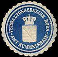 Siegelmarke Amt Hummelshain - Verwaltungsbezirk Roda W0262599.jpg