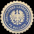 Siegelmarke Königliches Landratsamt - Preussisch Holland W0260294.jpg