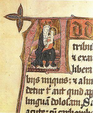 Munkeliv Abbey - Birgitta Sigfusdatter: Madonna with child (Munkeliv, ca. 1450)