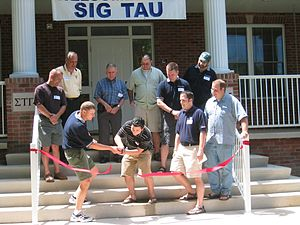 Sigma Tau Gamma - Ribbon Cutting at the opening of the new Alpha Psi chapter house at Pennsylvania State University.