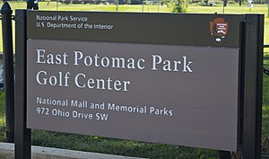 East Potomac Park Golf Course - Image: Sign East Potomac Golf Course East Potomac Park 2013 08 25
