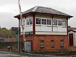 Signal box at Parbold railway station.JPG