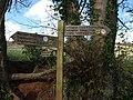 Signpost, Cockington valley - geograph.org.uk - 751943.jpg