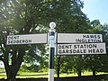 Signpost outside Dent, Dentdale, Cumbria - geograph.org.uk - 1655210.jpg