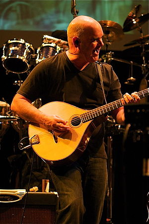Simon Emmerson - Simon Emmerson playing the Irish bouzouki with The Imagined Village at Barking (London) in 2008
