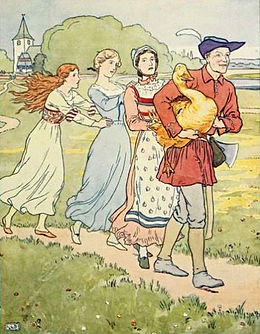 Simpleton takes The Golden Goose to the inn - Project Gutenberg eText 15661.jpg