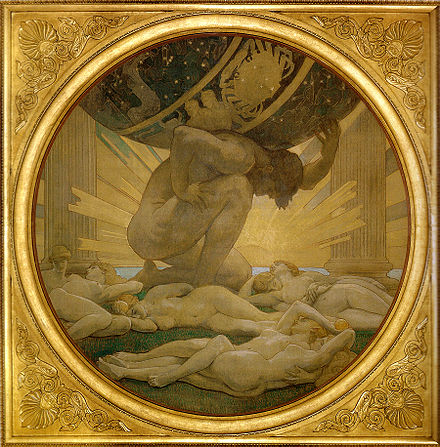 Atlas and the Hesperides by Singer Sargent, John (1925) Singer Sargent, John - Atlas and the Hesperides - 1925.jpg
