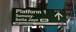 BRT Sunway Line - Image: Sirapb brt sunway sb 5 signage