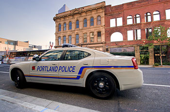 Portland police vehicle