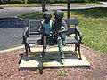 Sitting children sculpture in front of Duval County Public Schools.JPG