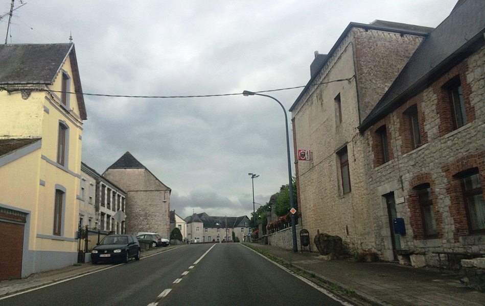 View from the small town of Rance in Southern Hainaut, Belgium