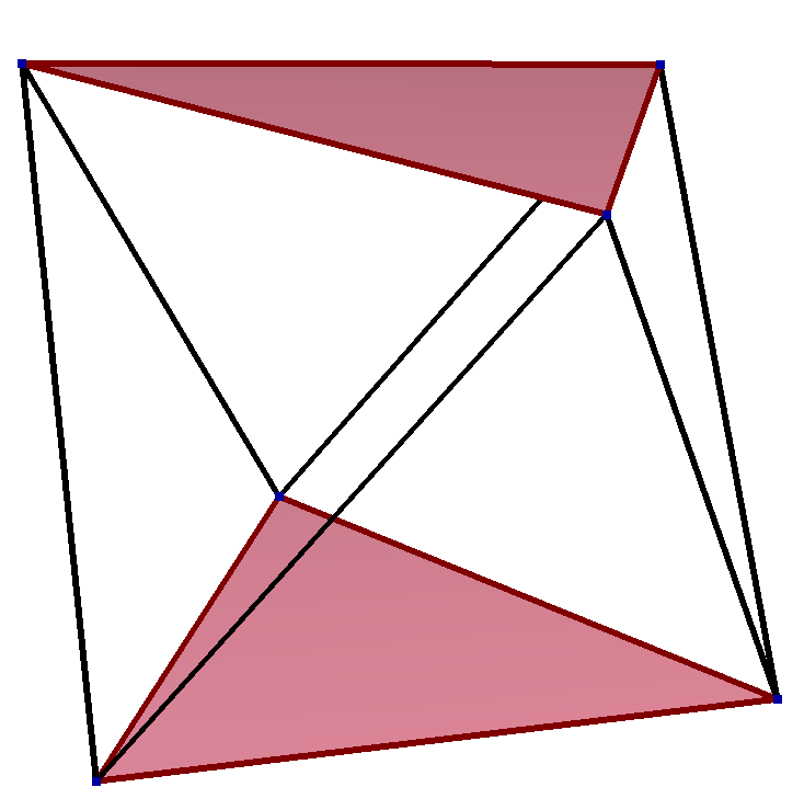 Skew polygon in triangular antiprism