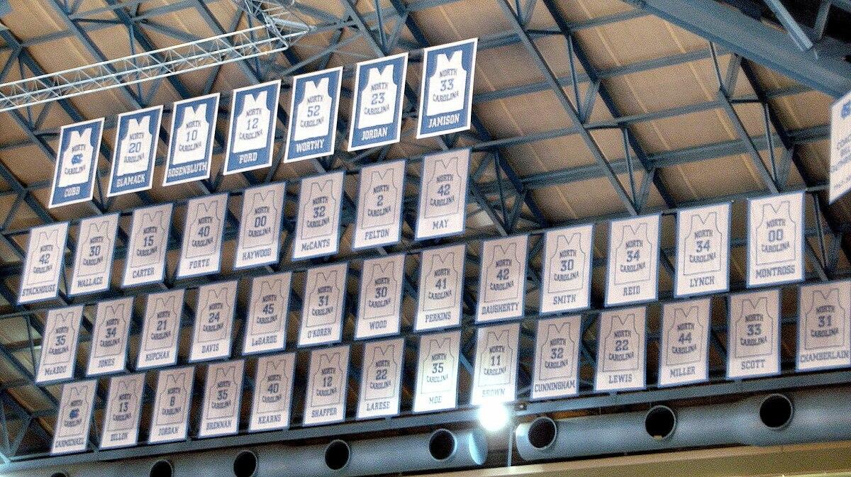 check out f3984 fab26 Honored North Carolina Tar Heels men's basketball players ...