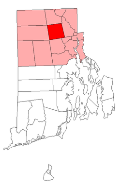 Location of Smithfield in Providence County, Rhode Island