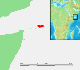 Localización de la isla de Socotra.