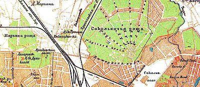 Марьина роща на карте москвы 1895 года