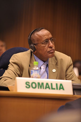 The Federal Government of Somalia has its seat in Mogadishu, the nation's capital. Somali delegate.JPG