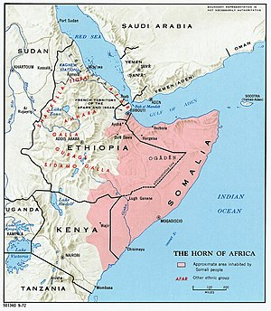 Ogaden War - Approximate extent of Greater Somalia.