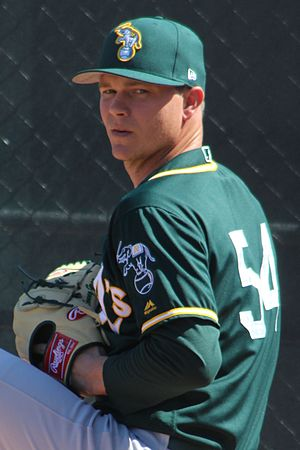 Sonny Gray - Gray with the Oakland Athletics in 2017