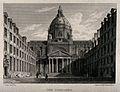 Sorbonne, Paris; panoramic view. Engraving by Elizabeth Byrn Wellcome V0014343.jpg