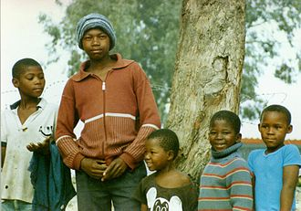 Township (South Africa) - Children in a township near Cape Town in 1989