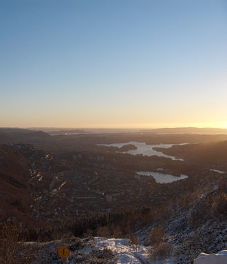 Landås - A view of Landås from Ulriken.