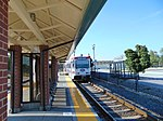 Southbound Blue Line TRAX at Meadowbrook station, Aug 16.jpg
